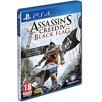 PS4 Videojuego Assasin's Creed IV Black Flag  1 Unidad