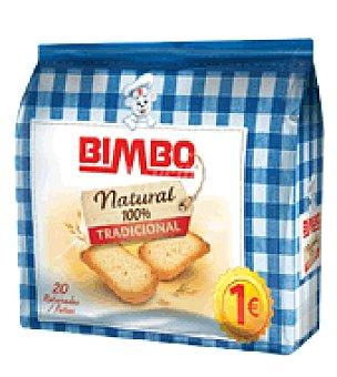 Bimbo Pan tostado Tradicional 100% Natural rebanadas 20 ud