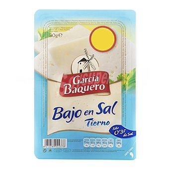 García Baquero Queso en lonchas tierno bajo en sal 80 g