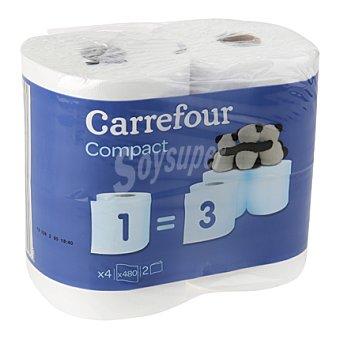 Carrefour Papel higiénico triple rollo de 2 capas 4 rollos