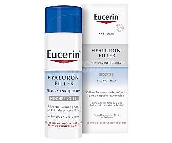 Eucerin Hyaluron-Filler textura enriquecida crema de noche para piel muy seca Dosificador 50 ml