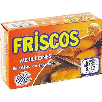 Friscos Mejillones en salsa de escabeche de las rías gallegas 8-12 piezas Lata 69 g neto escurrido