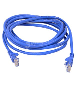 Carrefour Cable RJ45 3 metros azul