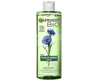 Garnier Agua micelar con flor de Aciano y cebada ecológicas, para todo tipo de pieles incluso sensibles BIO 400 ml