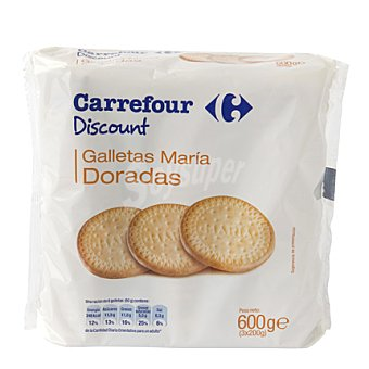 Carrefour Discount Galleta maria dorada paquete 600 g