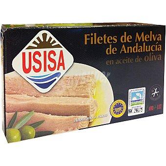 Usisa Filetes de melva de Andalucia en aceite de oliva lata 78 g neto escurrido Lata 78 g neto escurrido