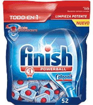 FINISH CALGONIT Lavavajillas maquina todo en 1 52 pastillas