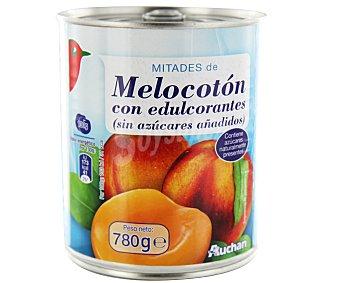 Auchan Melocotón en mitades con edulcorante Lata de 480 gramos
