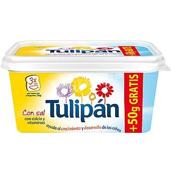 Tulipan Margarina con sal leche y vitaminas + 50 g gratis Envase 500 g