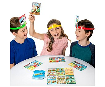 Bizak Juego de mesa infantil de descubrimiento Hedbanz Junior, de 2 a 4 jugadores, bizak