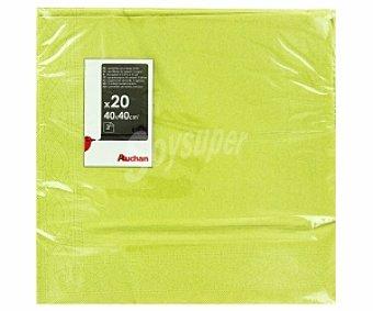 AUCHAN Servilletas verdes, 3 capas, 40x40cm 20 Unidades