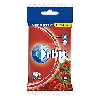 Orbit Chicles sabor a fresa 4 barritas. 56 g