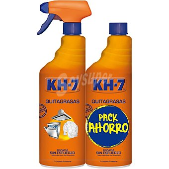 KH-7 quitagrasa pistola 750 ml + recambio 750 ml pack ahorro 750 ml.