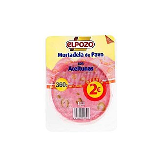 ElPozo Mortadela de pavo 21 lonchas Envase 360 g