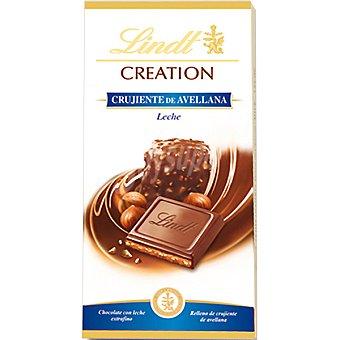 Lindt Chocolate creation con leche extrafino relleno de crema crujiente de avellana Tableta 150 g