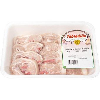 TABLADILLO Chuletas de cochinillo bandeja 450 g peso aproximado Bandeja 450 g