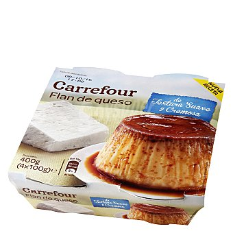 Carrefour Flan de queso Pack 4x110 g