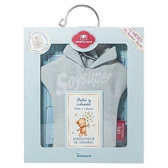 CRISTALINAS Percha Ambientador de armario con un recambio Bebé y Colonia