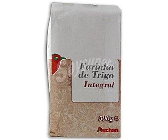 Auchan Harina de trigo integral 500 gramos