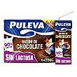 Batido de chocolate sin lactosa Pack 6 briks x 200 ml Puleva