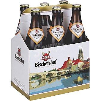 BISCHOFSHOF Hell Cerveza rubia de trigo alemana pack 5 botella 50 cl + 1 botella gratis Pack 5 botella 50 cl