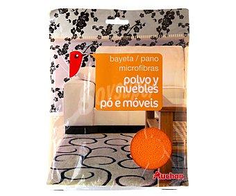 Auchan Bayeta microfibras para polvo y muebles, 1 unidad