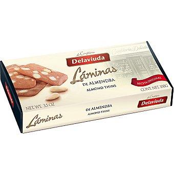 Delaviuda Láminas de galleta con almendras Estuche 100 g