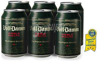 Voll-damm Cerveza Lata 33 cl 6 uni