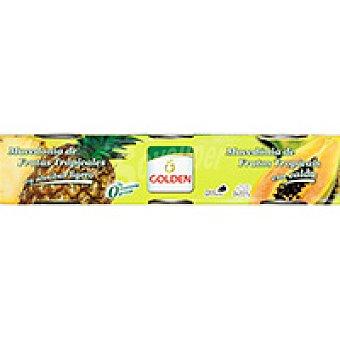 Golden Quality Foods Cóctel de Frutas Tropicales Pack 3x137 g