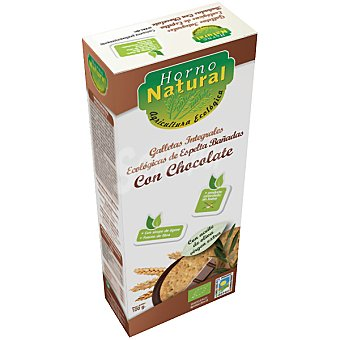 HORNO NATURAL Galletas integrales de espelta de chocolate ecológicas Envase 100 g