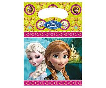 Disney Frozen Bolsitas de fiesta de plástico con diseño Frozen Pack de 6 unidades