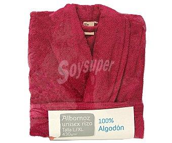 Auchan Albornoz de rizo americano color rosa fucsia talla extra grande 1 unidad