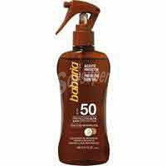 Babaria Aceite de coco FP50 , pistola 200 ml