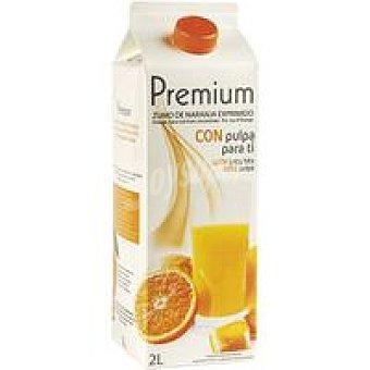 Premium Zumo de naranja refrigerada con pulpa Brik 2 litros