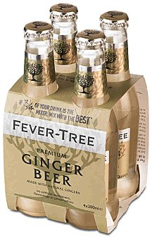 Fever Tree Tónica premium Ginger Beer Pack 4 botella 20 cl