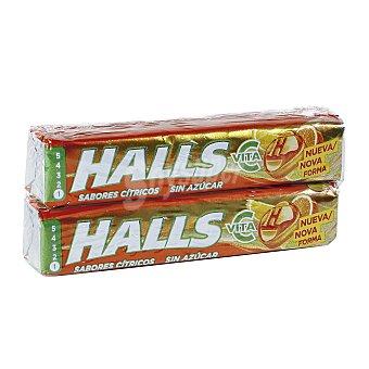 Halls Vita c cítricos paquete  2 paquetes de 64 g