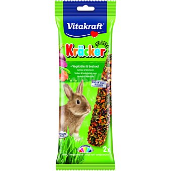 Vitakraft Barritas para conejo enano con verduras paquete 2 unidades Paquete 2 unidades