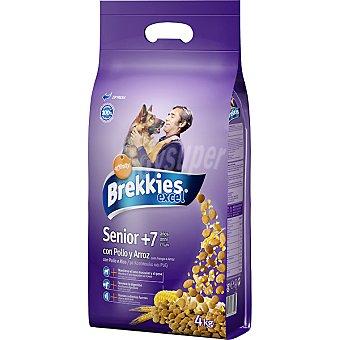 Brekkies Affinity EXCEL SENIOR Para perros de +7 años con pollo y arroz Bolsa 4 kg