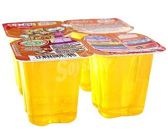 Rik&Rok Auchan Gelatina de naranja 4 unidades de 100 gramos