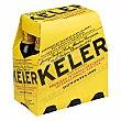 Cerveza rubia premium de origen Donostia Pack 6 botellas x 25 cl Keler