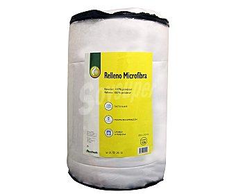 Productos Económicos Alcampo Relleno nórdico de microfibra color blanco para cama de 135 centímetros, densidad de 250 gramos/m² 1 unidad