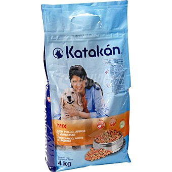 KATAKÁN Alimento Mix para perros con pollo, arroz y verduras  Bolsa 4 kg
