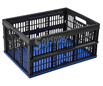 Mondex Caja de ordenación pleglable con capacidad de y fabricada en plástico azul y negro mondex 33 litros