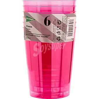El Corte Inglés Vaso rosa reutilizable 320cc Paquete 6 unidades