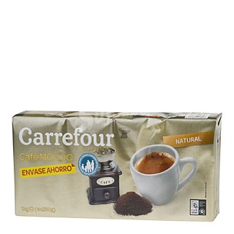 Carrefour Café molido natural Pack de 4x250 g