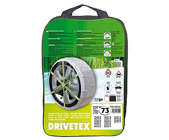 DRIVETEX Cadenas de nieve textiles, número 73 2 unidades