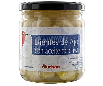 Auchan Dientes de ajo con aceite de oliva 190 gramos