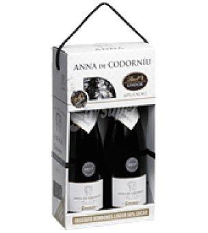 Anna de Codorniu Estuche de cava brut Blanc de Noirs pack de 2x75 cl