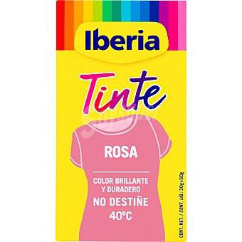 Iberia Tinte para ropa cambia el color rosa caja 2 sobres