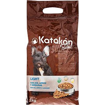 KATAKÁN Alimento para perro con ave. arroz y verduras Select Light Bolsa 3 kg